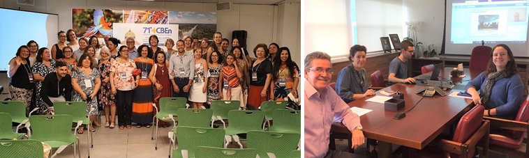 Participants of the 19th Meeting of the Advisory Board of VHL Nursing Brazil and BIREME's online participation